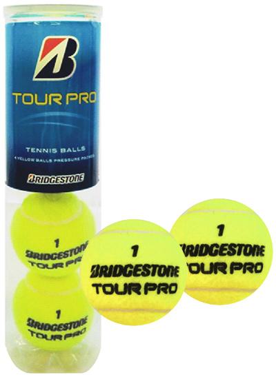 BRIDGESTONE(ブリヂストン)TOUR PRO(ツアープロ)1箱(15缶/60球)テニスボール 中身